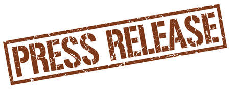 press release: press release brown grunge square vintage rubber stamp Illustration