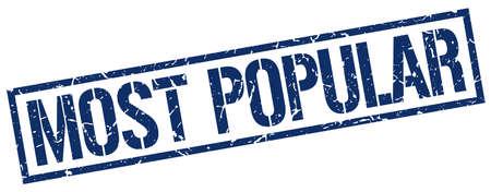 most popular: most popular blue grunge square vintage rubber stamp
