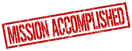 accomplish: mission accomplished red grunge square vintage rubber stamp