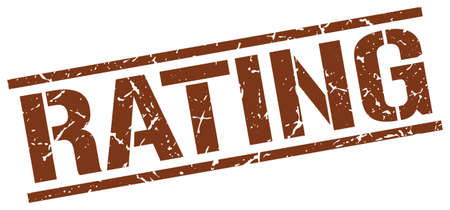 rating: rating brown grunge square vintage rubber stamp