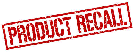recall: product recall red grunge square vintage rubber stamp