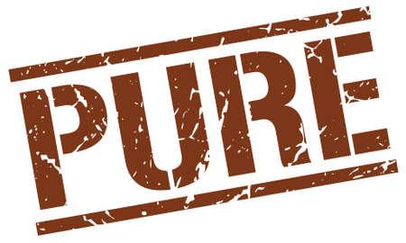 pure: pure brown grunge square vintage rubber stamp Illustration