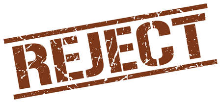 reject: reject brown grunge square vintage rubber stamp Illustration