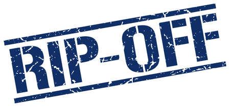 rip off: rip-off blue grunge square vintage rubber stamp Illustration