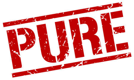 pure: pure red grunge square vintage rubber stamp