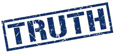the truth: truth blue grunge square vintage rubber stamp Illustration