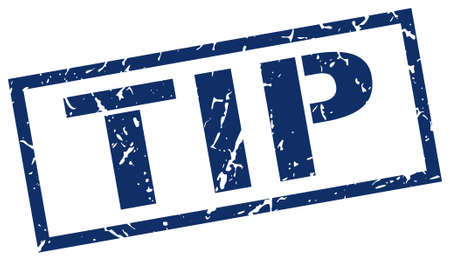 tip to tip: tip blue grunge square vintage rubber stamp