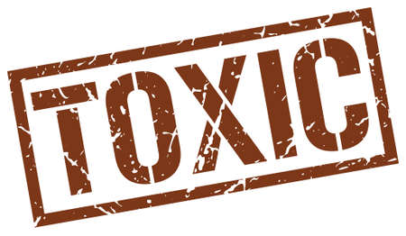 toxic: toxic brown grunge square vintage rubber stamp