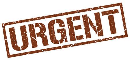 urgent: urgent brown grunge square vintage rubber stamp Illustration