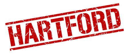 hartford: Hartford red square stamp