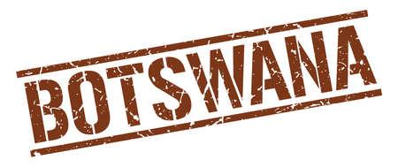 botswana: Botswana brown square stamp