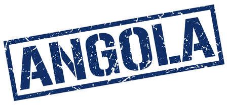 angola: Angola blue square stamp