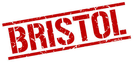 bristol: Bristol red square stamp