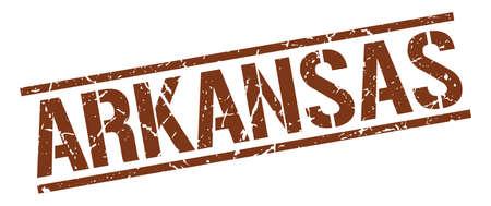 arkansas: Arkansas brown square stamp