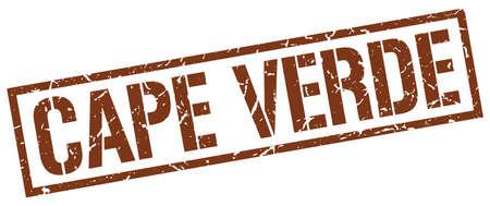 verde: Cape Verde brown square stamp
