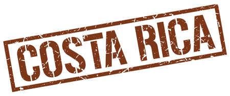 costa rica: Costa Rica brown square stamp