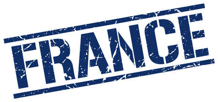 france stamp: France blue square stamp