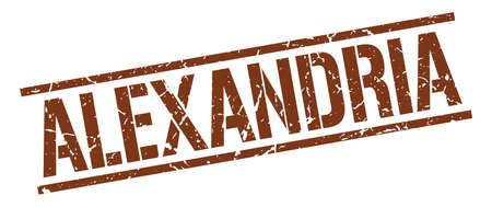alexandria: Alexandria brown square stamp