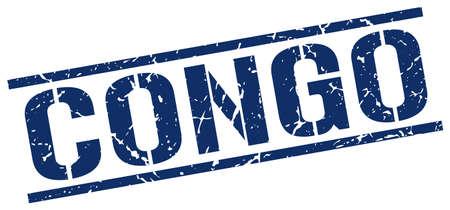 congo: Congo blue square stamp