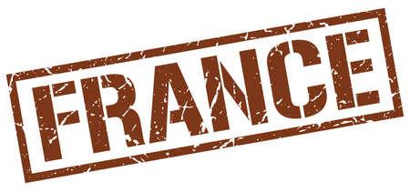 france stamp: France brown square stamp