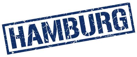 hamburg: Hamburg blue square stamp