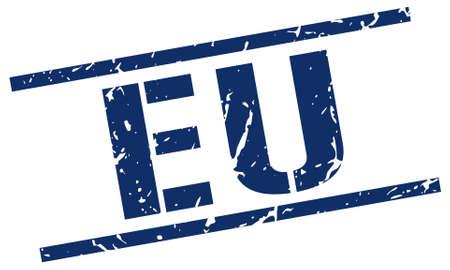 eu: eu blue square stamp