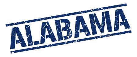 alabama: Alabama blue square stamp