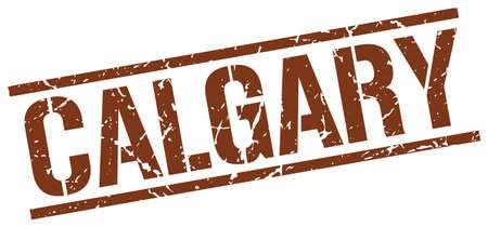 calgary: Calgary brown square stamp