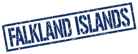falkland: Falkland Islands blue square stamp
