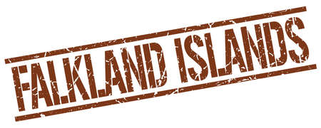 falkland: Falkland Islands brown square stamp