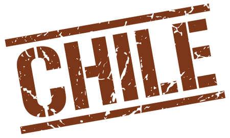 chile: Chile brown square stamp