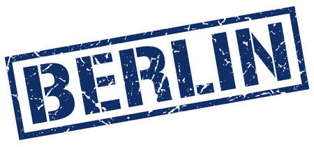 berlin: Berlin blue square stamp