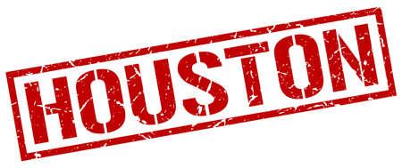 houston: Houston red square stamp Illustration