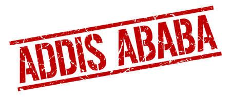 addis: Addis Ababa red square stamp Illustration
