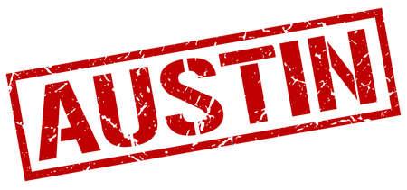 austin: Austin red square stamp
