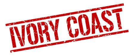coast: Ivory Coast red square stamp