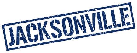 jacksonville: Jacksonville blue square stamp