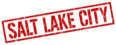 salt lake city: Salt Lake City red square stamp Illustration