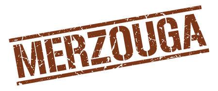 merzouga: Merzouga brown square stamp Illustration