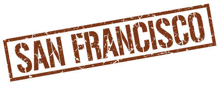 francisco: San Francisco brown square stamp