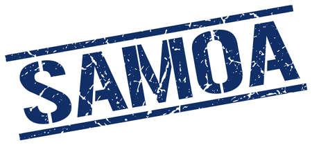 samoa: Samoa blue square stamp Illustration