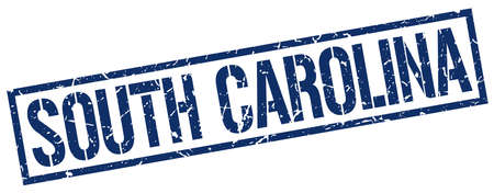 south carolina: South Carolina blue square stamp Illustration