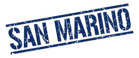 marino: San Marino blue square stamp Illustration