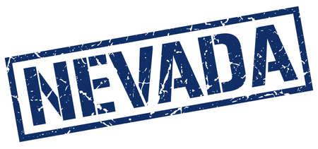 nevada: Nevada blue square stamp