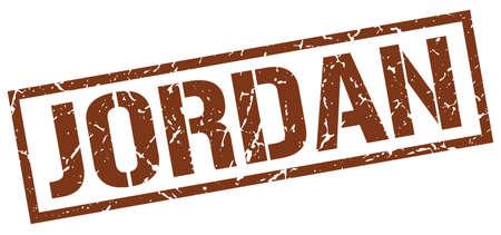 jordan: Jordan brown square stamp