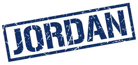 jordan: Jordan blue square stamp