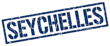 seychelles: Seychelles blue square stamp