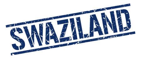 swaziland: Swaziland blue square stamp Illustration