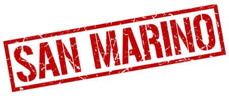 san: San Marino red square stamp