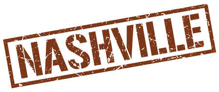nashville: Nashville brown square stamp